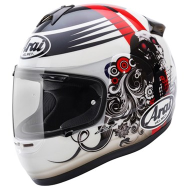 Arai Axces 2 Motorcycle Helmet in the Doom graphic