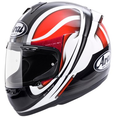 Arai Axces 2 Motorcycle Helmet Vortex Red, White and Black graphic
