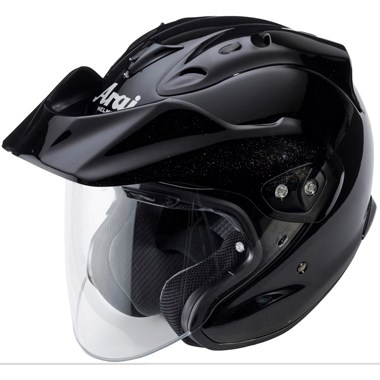 Arai CT Ram Open Face Motorcycle Helmet, in Diamond Black