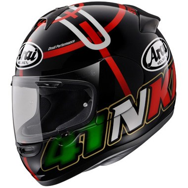 Arai Axces 2 Motorcycle Helmet in the Haga Monza Black graphic