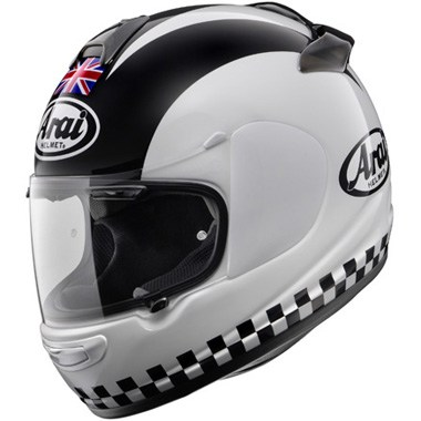 Arai Chaser V Motorcycle Helmet in the Legend White graphic