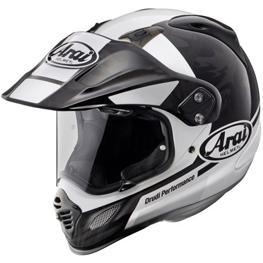 Arai Tour X4 Motorcycle Helmet in the Mission Black and White graphic