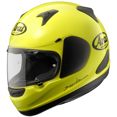 Arai Quantum ST Motorcycle Helmet in Fluorescent Yellow