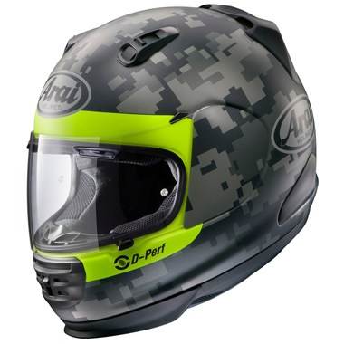 Arai Rebel Motorcycle Helmet in the Mimetic graphic
