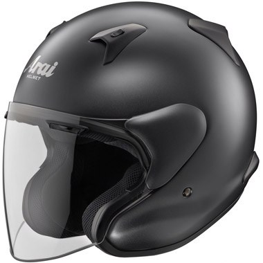 Arai X-Tend Open Face Motorcycle Helmet, in Frost Black