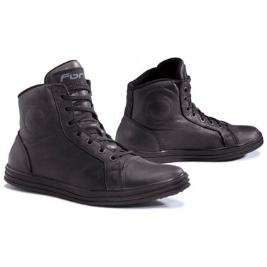 forma slam leather casual motorcycle boots black