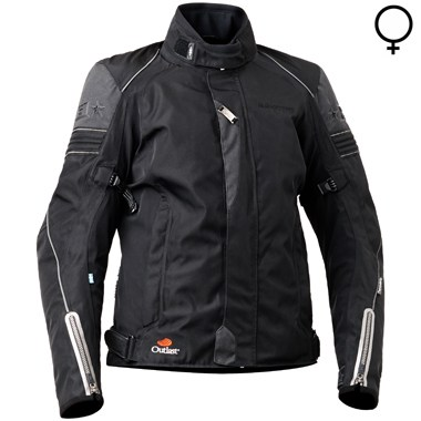 Halvarssons Amazon Lady Textile Motorcycle Jacket in Black