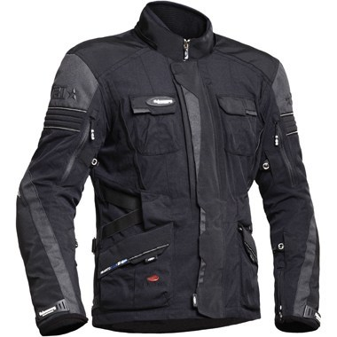 Halvarssons Prime Textile Motorcycle Jacket in Black