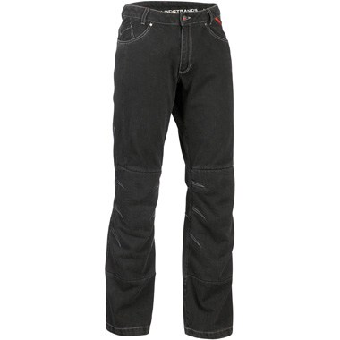 Lindstrands Wrap Motorcycle Jeans in Black with Short Leg features Hi Art, the abrasion resistant material