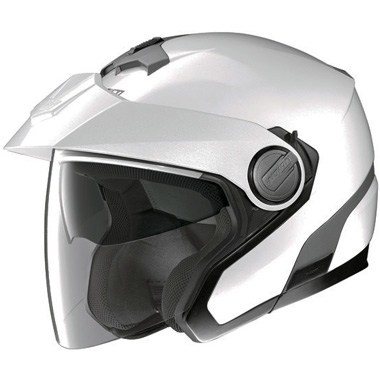 Nolan N40 Classic Plus N Com Open Face Motorcycle Helmet Metal White 18