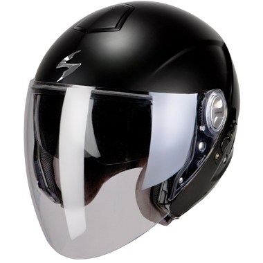 Scorpion Exo 210 Open Face Motorcycle Helmet in Matt Black