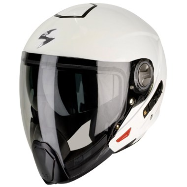 Scorpion Exo 300 Air Crossover Motorcycle Helmet in Gloss White