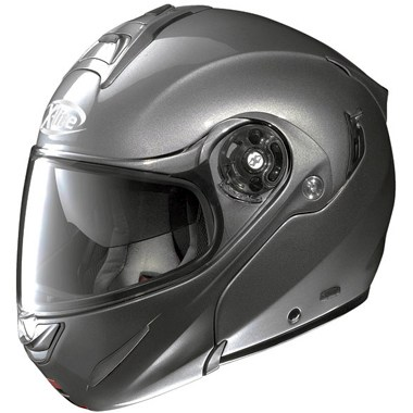 X Lite X 1003 Flip Front Motorcycle Helmet, in the Elegance Lava 6 colour way, is N Com ready