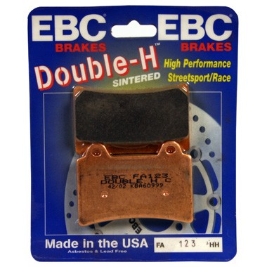 EBC FA123HH Motorcycle Front Brake Pads for the Yamaha FZR750 Genesis, left hand set