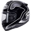 Arai Axces 2 Motorcycle Helmet in the Field Silver and Black graphic