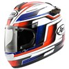 Arai Chaser V Motorcycle Helmet in the Electric Red, White, Blue and Black graphic