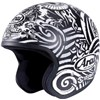 Arai Freeway 2 Open Face Motorcycle Helmet in the Black and White Art graphic