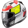Arai Quantum ST Motorcycle Helmet in the Puro White graphic