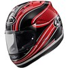 Arai RX7GP Motorcycle Helmet in the Mamola Red graphic