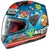 Nolan N64 Gemini Replica Motorcycle Helmet, in the  Melandri Aqua Pearl Blue 42 graphic