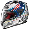 Nolan N64 Gemini Replica Motorcycle Helmet, in the Stoner Tribute Metal White 46 graphic