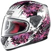 Nolan N64 Glamour Motorcycle Helmet, in the Metal White, Pink and Purple 24 graphic