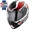 Schuberth S2 Motorcycle Helmet, in the Sport Tech Red and White graphic