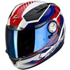 Scorpion Exo 1000 Air Motorcycle Helmet, in the Airline White, Red and Blue graphic