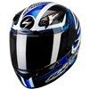Scorpion Exo 2000 Air Motorcycle Helmet in the Shifter Blue graphic