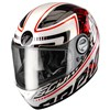Scorpion EXO 500 Air Motorcycle Helmet in the Login Red graphic