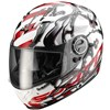 Scorpion Exo 500 Air Full face Motorcycle Helmet, in the Oil Red and White graphics