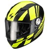Scorpion EXO 500 Air Motorcycle Helmet in the Thunder Black and Yellow graphic