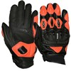Weise Daytona Short Motorcycle Gloves in Black and Orange