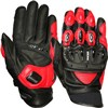 Weise Daytona Short Motorcycle Gloves in Black and Red