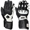 Weise Vortex Motorcycle Gloves Black and White