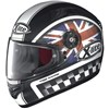 X Lite X 603 Ride N-Com Ready Motorcycle Helmet in the Flat Black UK 25 graphic