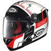 XLite X802R Motorcycle Helmet in the Rush White 2 Graphic
