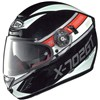 X Lite X702 GT N Com Ready Motorcycle Helmet, in the Chased Metal Black and Red 27 graphic