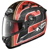 XLite X802R Motorcycle Helmet Camier in the Flat Black and Red 22 graphics