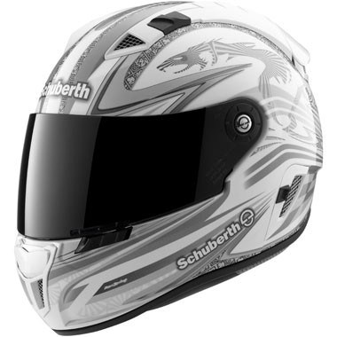 Schuberth SR1 Motorcycle Helmet Racingline White and Grey