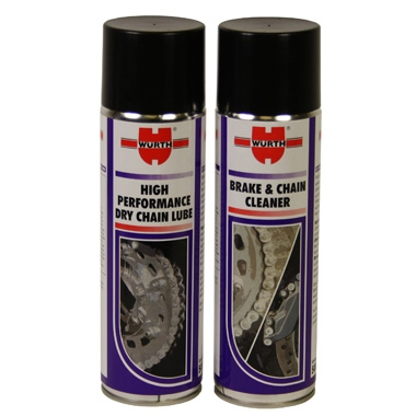 Wurth Motorcycle Chain Lube and Cleaner Two Pack Special