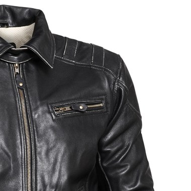 Halvarssons Spitfire Classic Leather Motorcycle Jacket