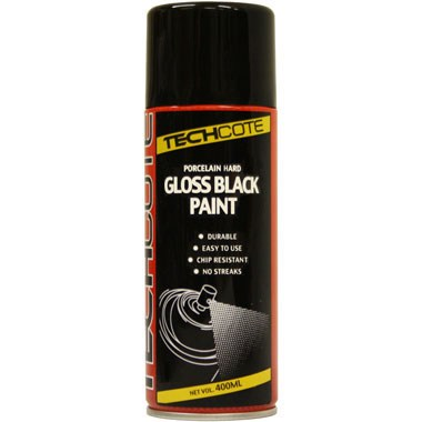 techcote porcelain hard gloss black paint