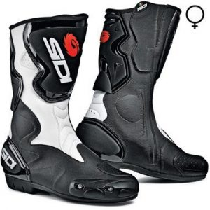 Sidi_fusion_lady_motorcycle_boots_black_white