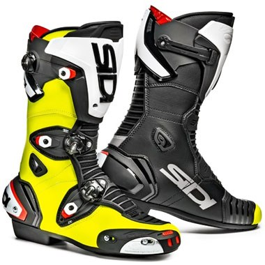 Motorcycle boots yellow
