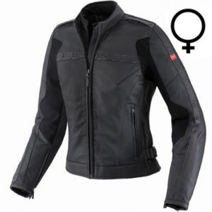 Spidi_symbol_ladies_leather_motorcycle_jacket_black