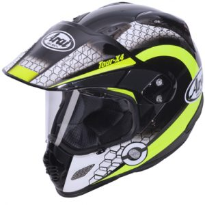 Arai Tour X4 Adventure Motorcycle Helmet Mesh Yellow