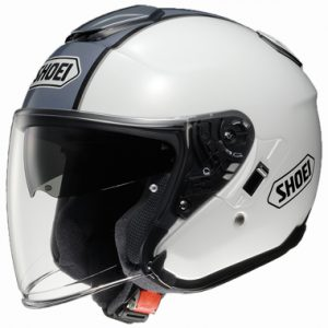 Shoei J Cruise Open Face Motorcycle Helmet Corse TC 6 White/Grey