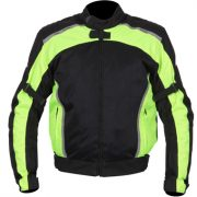 Weise Airspin Textile Motorcycle Jacket in Black and Neon Yellow,