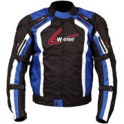 Weise Corsa Textile Motorcycle Jacket in Black and Blue